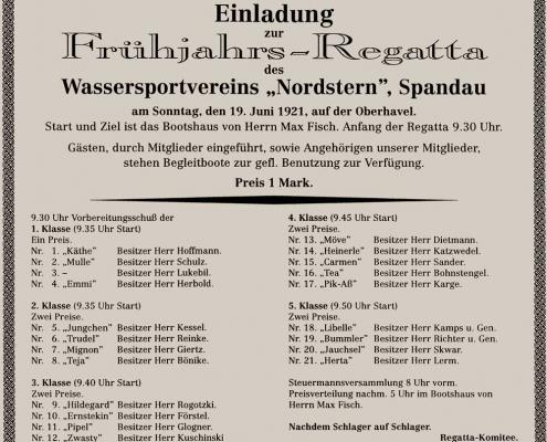 """Frühjahrsregatta am 19.06.1921 vor dem """"Bootshaus Oberhavel"""""""