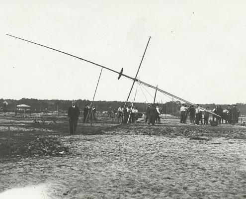 Erste Aufstellung unseres Mastes noch als WSV Nordstern