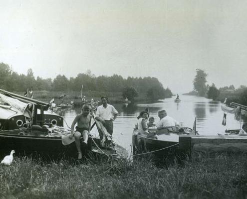 Urlaub am Tornowsee, vor der Schleuse Altfriesack