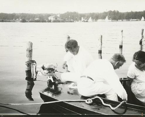 Familie Förstel und der Fachmann E. Schwengber