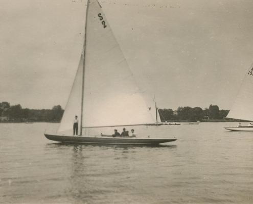 Und das ist die stolze Yacht von Otto Lerm