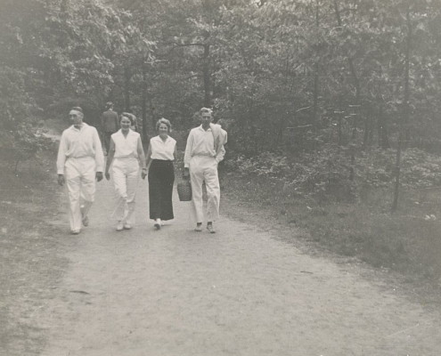 Pfingsten am Templinersee. Albert Reußner, Heinz Albrecht und Frauen Nölte