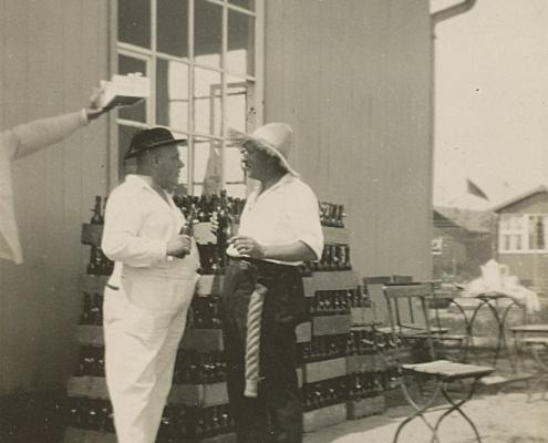 Absegeln. Wilhelm Paulisch, Walter Biesler und Lorek