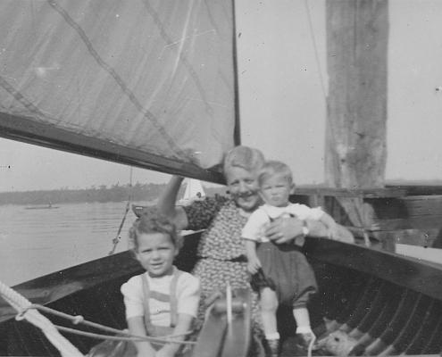 Renate und Manfred Richter mit Großmutter