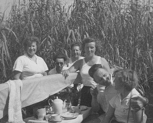 Elfi und Herrmann Wollinger, Gerhard Schäfer, Maria Kunze, Kurt und Gerda Schäfer