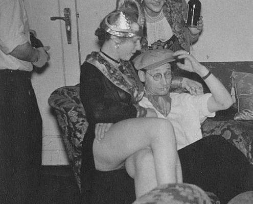 Familie Nölte (vorn), Erich Segeletz und Hilde Richter (hinten von li.)