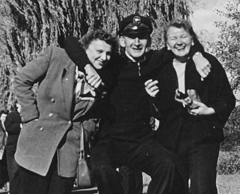 Hilde Richter, Erich Krause und Lotte Segeletz (von li.)