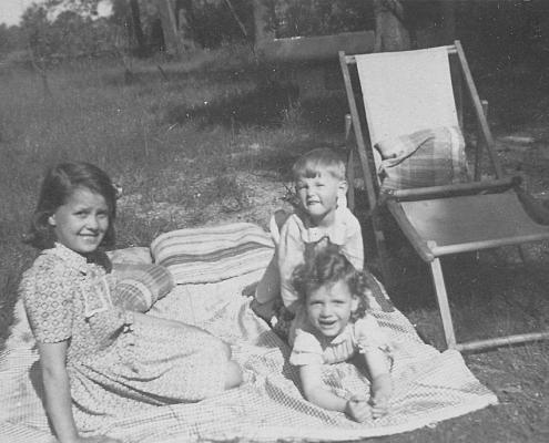 Helga Schuhr (Enkelin von Wilhelm Paulisch), Renate und Manfred Richter (von li.)