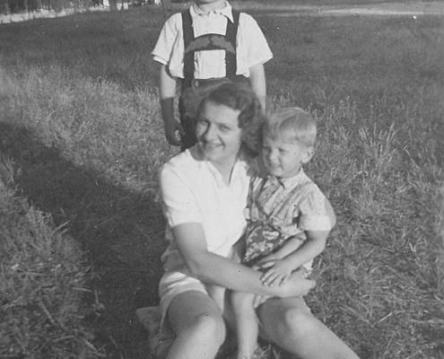 Hilde, Manfred Richter und Freund