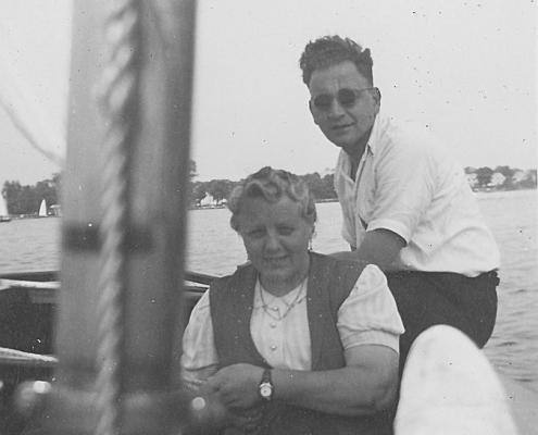 Großmutter Krüger und Kurt Richter