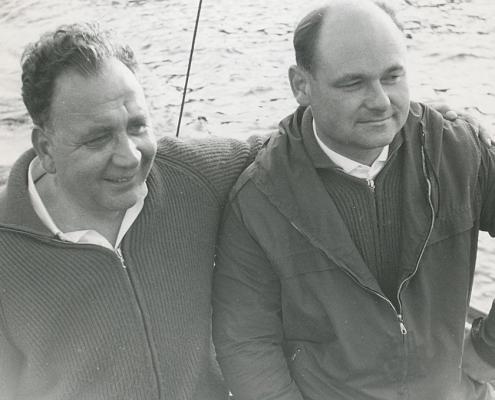 Kurt Richter li., Heinz Schneider re