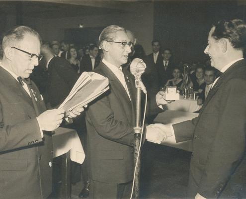 Kurt Weck li., Bernhard Nölte mi., Gerhard Fischer re