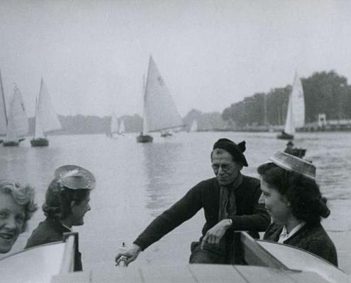 Mitte: Emmy und Albert Reußner