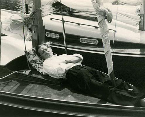 Albert Reußner beim Mittagsschlaf