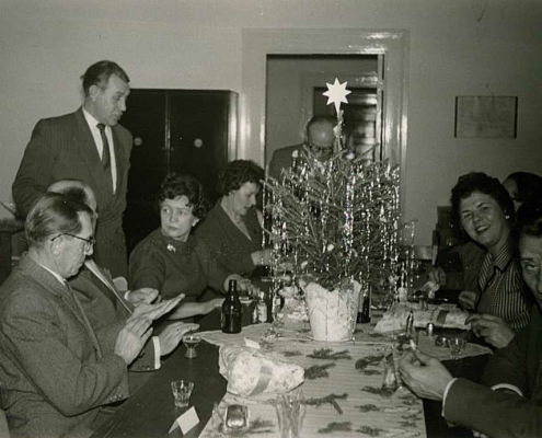 Albert Reußner (links) privat in der Vorweihnachtszeit