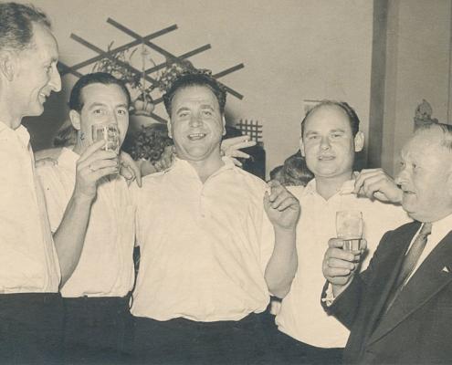 Erich Krause, Otto Schur, Kurt Richter, Heinz und Johannes Schneider (von li. nach re.)