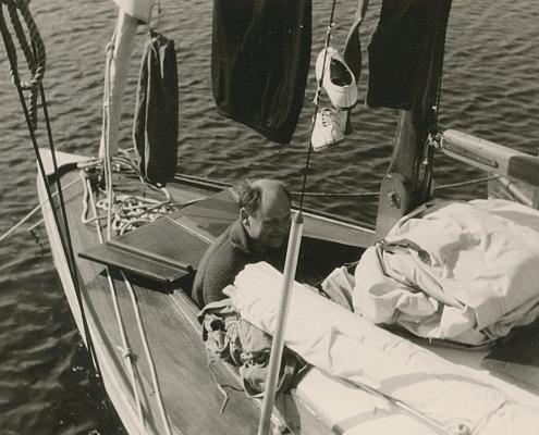 Heinz Schneider im Vorschiff