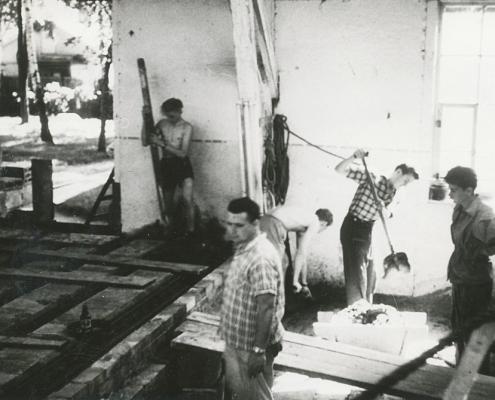 Neubau der Toiletten (Heinz Boß)