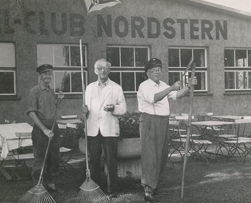 Die unermüdlichen Gartenzwerge des SCN. F. Dembiak, A. Thührer, K. Barth