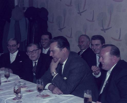 Herrenpartie (1. Reihe: Bernhard Nölte, Ladislaus Andreovich, Günter Fritsche & Horst Lechner; 2. Reihe: Werner Kunze, Rudi Rothermund, Kam. Splettstößer)