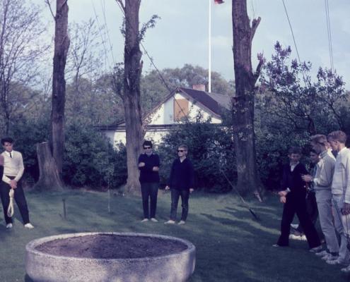 Besprechung nach der Wettfahrt (links außen: Jugendleiter Rudi Holle)