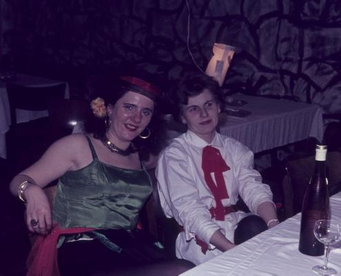"""Kostümfest (M. Korseck und """"Hilde"""" Liebing)"""