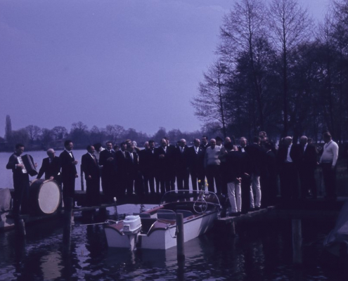 Karfreitag: Motorbootstaufe Hermine Quasdorf