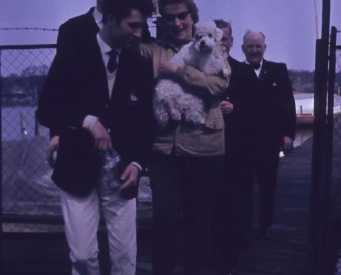 "Karfreitag: Motorbootstaufe (""Lemmi"", Horst Ketterling, Hermine Quasdorf & Robert Winkelmann)"
