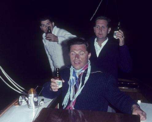 Werner Kunzes Geburtstag bei der 60sm-Wettfahrt (Klaus Braschoß, Werner Kunze & Dietrich Balzer)