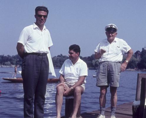 Nach der 60sm-Wettfahrt Wannsee (Werner Kunze, Klaus Braschoß & Wilhelm Paulisch)