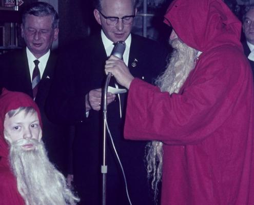 Jugendleiter beim Weihnachtsmann: Erwin Uhse & Wolfgang Gutsche