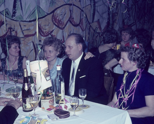 Kantine, Silvester 64/65 (Ruth Balzer, Vera Jaeger, Dieter Jaeger & Hilde Liebing)