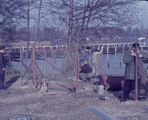 Vereinsarbeit: Zaun am Ufer