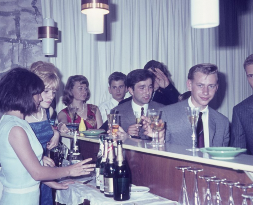 Sommerfest: (vor dem Tresen) Jutta Reinhard, Horst Ketterling, Klaus Großpietsch & Jörg Müller