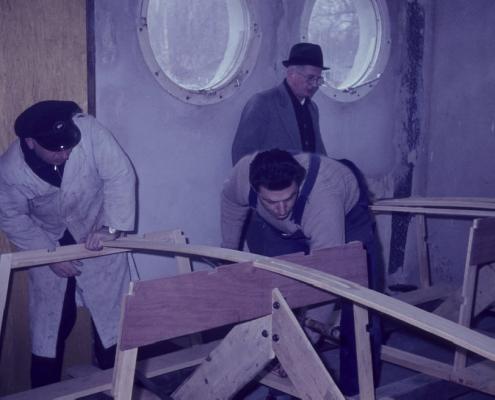 Optimistenbau: Rudi Rothermund, Werner Kunze & Erwin Uhse
