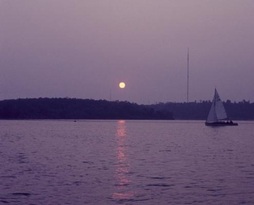 60sm-Wettfahrt: Sonnenuntergang