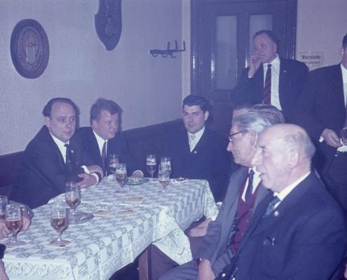 Bußtag Herrenfahrt: Klaus Liesecke, Fred Lehmann, Klaus Braschoß, Bernhard Nölte, Paul Schlenger (im Hintergrund: Kurt Richter)