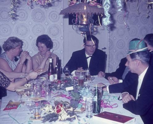 Silvesterfeier: Hilde Richter, Ilse Küchlin, Werner Kunze & Hermann Wollinger