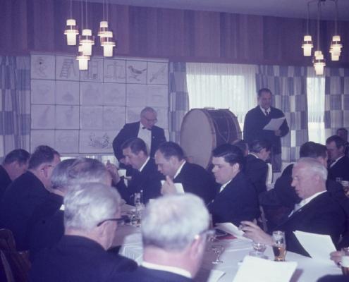 Karfreitag: an der Pauke: Peter Tietsch & Günter Fritsche; vorn: Dietrich Balzer, Dieter Wachholz, Klaus Braschoß, Rudi Rothermund & Willy Reinhard