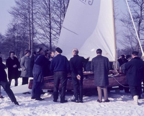 Bootstaufe im Schnee: Rainer's Korsar