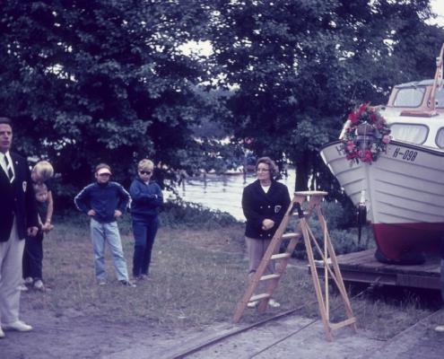 Taufe Motorboot durch Kurt und Toni Bugge