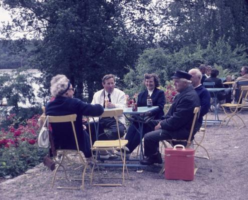 Opti-Wettfahrt DSC: Hilde Richter, Horst Küchlin, Gerda Schäfer, Willy Gabriel & Rudi Rothermund
