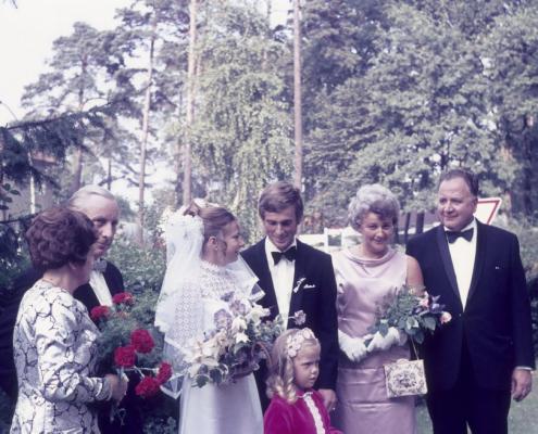 Hochzeit: Else und Felix Frost, Evelyn und Manfred Richter, Hilde und Kurt Richter