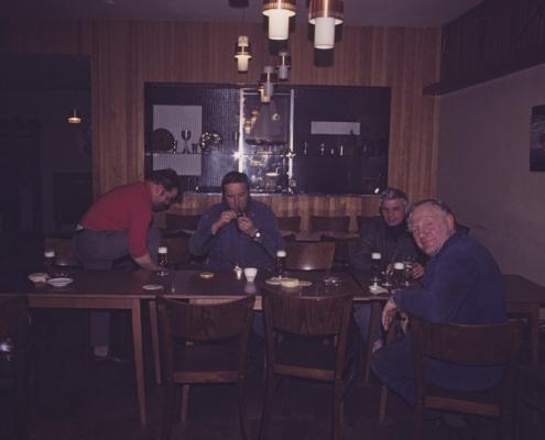 Arbeitspause: Fred Lehmann, Achim Schönfelder, Manfred Grasse & Rudi Hermann