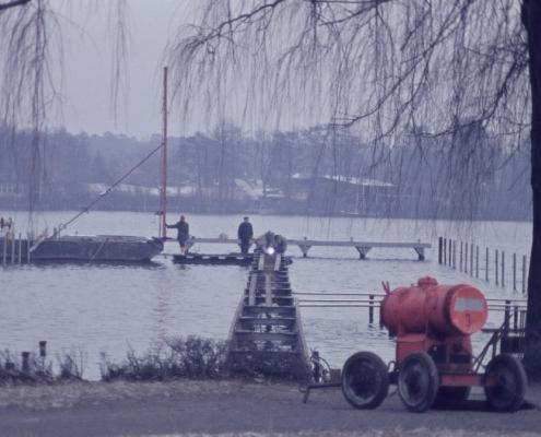 Neubau Hauptsteg im Winter