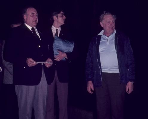 Einweihung Neubau Hauptsteg: Kurt Richter, Wolfgang Schlaak & Rudi Hermann