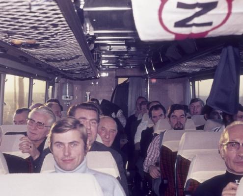 Bußtag: Busfahrt nach Dänemark (Herrenpartie über Travemünde): Rudi Rothermund, Rudi Scholle, Wolfgang Otter, Paul Schlenger, Peter Germelmann & Rudi Sachs