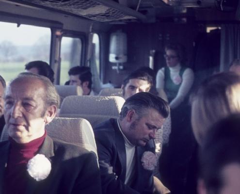 Bußtag: Busfahrt nach Dänemark (Herrenpartie über Travemünde): Erich Krause & Heinz Boss