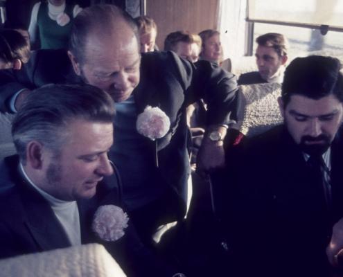 Bußtag: Busfahrt nach Dänemark (Herrenpartie über Travemünde): Heinz Boss, Kurt Bugge & Klaus Braschoß