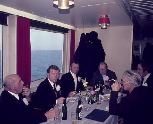 Bußtag: Busfahrt nach Dänemark (Herrenpartie über Travemünde): Paul Schlenger, Fred Lehmann, Wolfgang Liebing, Kurt Bugge, Rudi Scholle & Achim Schönfelder